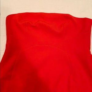 Topshop strapless red dress